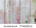 old painted wood wall   texture ... | Shutterstock . vector #774638512