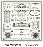 vintage ornamental calligraphic ... | Shutterstock .eps vector #77463994