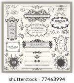 vintage ornamental calligraphic ... | Shutterstock .eps vector #77463994
