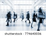 blurred people walking in a... | Shutterstock . vector #774640036