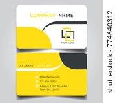 modern yellow white black theme ... | Shutterstock .eps vector #774640312