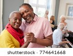 portrait of senior couple... | Shutterstock . vector #774641668
