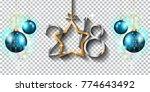 2018 happy new year design for... | Shutterstock .eps vector #774643492
