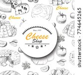 vector background with cheese... | Shutterstock .eps vector #774645265