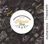 vector background with cheese...   Shutterstock .eps vector #774646495