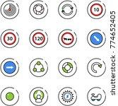 line vector icon set   radar... | Shutterstock .eps vector #774652405