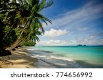 the cosat line of the islands... | Shutterstock . vector #774656992