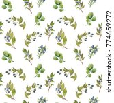 watercolor seamless pattern.... | Shutterstock . vector #774659272