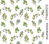 watercolor seamless pattern.... | Shutterstock . vector #774659272