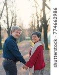 romantic senior couple portrait ... | Shutterstock . vector #774662986