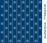 blue christmas wrapping paper... | Shutterstock .eps vector #774666118