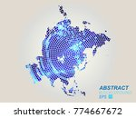 asia map dots. all elements are ... | Shutterstock .eps vector #774667672