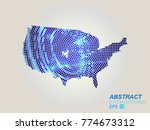 usa map dots. all elements are... | Shutterstock .eps vector #774673312