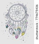 hand drawn illustration of... | Shutterstock .eps vector #774675436