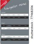 navigation menus   pathmaster...   Shutterstock .eps vector #77468206