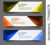 horizontal business banner...   Shutterstock .eps vector #774686278