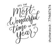 it's the most wonderful time of ... | Shutterstock .eps vector #774687676