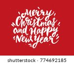 merry christmas and happy new... | Shutterstock .eps vector #774692185