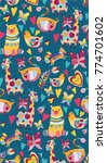 cute pattern with colorful... | Shutterstock .eps vector #774701602