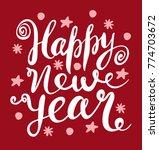 happy new year vector... | Shutterstock .eps vector #774703672