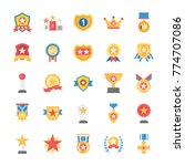 rewards and medals flat icons... | Shutterstock .eps vector #774707086