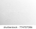 abstract halftone wave dotted... | Shutterstock .eps vector #774707386