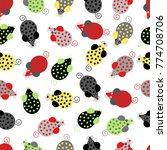 colored mice. seamless pattern | Shutterstock .eps vector #774708706