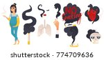 dangers of smoking  health risk ... | Shutterstock .eps vector #774709636