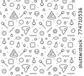 vector seamless texture.... | Shutterstock .eps vector #774710536