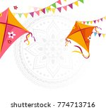 happy makar sankranti holiday... | Shutterstock .eps vector #774713716