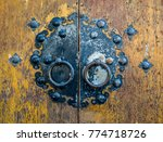korean traditional doorknob and ... | Shutterstock . vector #774718726