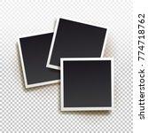 set of instant photo frame.... | Shutterstock .eps vector #774718762