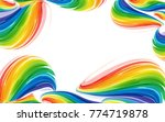 colorful abstract wave elements ... | Shutterstock . vector #774719878
