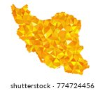 yellow colors low polygon style ... | Shutterstock .eps vector #774724456