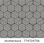 vector seamless lines pattern.... | Shutterstock .eps vector #774724756
