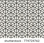 vector seamless lines pattern.... | Shutterstock .eps vector #774724762