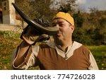 vikings in costumes   Shutterstock . vector #774726028