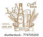 wheat beer ads  beer bottle and ...   Shutterstock .eps vector #774735202
