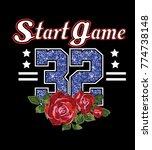start game slogan.shimmering...   Shutterstock .eps vector #774738148