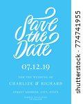 save the date. invitation... | Shutterstock .eps vector #774741955