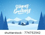 vector illustration  winter... | Shutterstock .eps vector #774752542