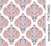 blue and orange ornamental... | Shutterstock .eps vector #774756802
