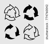 set of arrows  vector clipart ... | Shutterstock .eps vector #774760042