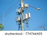 micro cellular 3g  4g  5g. base ... | Shutterstock . vector #774766405