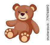 vector cute teddy bear baby toy.... | Shutterstock .eps vector #774768892