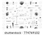 pencil sketches. hand drawn... | Shutterstock .eps vector #774769102