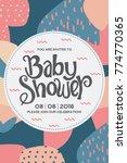 baby shower invitation card. | Shutterstock .eps vector #774770365