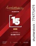 15 years anniversary logotype... | Shutterstock .eps vector #774771475