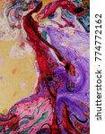 """Small photo of woman figure abstract., oil painting, artist, Roman Nogin, """"BEVY"""" series,looking for partnerships with artdillers - contact facebook"""