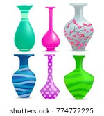 Realistic Vases Set With...